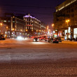 View of Tverskaya street at winter night in Moscow — Stock Photo #19294559
