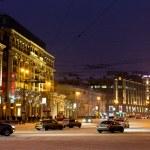 View of Tverskaya street in winter night in Moscow — Stock Photo #19294573