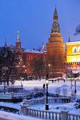 Köşe arsenalnaya moskova kulesi kremlin — Stok fotoğraf