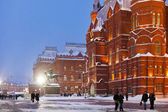 State Historical Museum building in winter evening, Moscow — Stock Photo