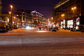 View of Tverskaya street at winter night in Moscow — Stock Photo