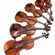 Six sizes of violins — Stock Photo #20042713