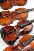 Several used fiddles — Stock Photo