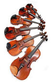Different sized fiddles — Stockfoto