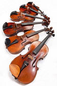 Different sized fiddles close up — Stock Photo