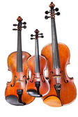 Three sizes of violins — Stock Photo