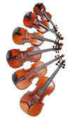 Different sized fiddles — Stock Photo