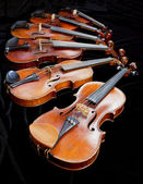 Violins with black background — Stock Photo