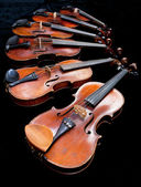 Fiddles with black background — Stock Photo