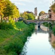 View of bridge Brenta River in Padua - Stock Photo