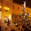 Fountain of Neptune with shadow in Bologna — Stock Photo #20387129