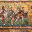 Mosaic the three magi in Sant Apollinare Nuovo in Ravenna — Stock Photo