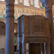 Ancient pulpit in cathedral, Ravenna — Stock Photo