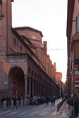 Church San Giacomo Maggiore from Via Zamboni in Bologna — Stock Photo