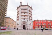 Baptistery on Piazza del Duomo, Parma — Stock Photo