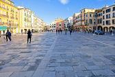 Piazza dei Signori and Church of San Clemente in Bologna — Stock Photo