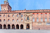 Facade of Accursio palace in Bologna — Stock Photo