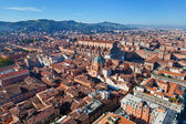 Above view of The Basilica of San Petronio in Bologna — Stock Photo