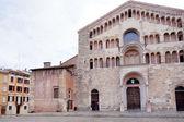 Facade of Parma Cathedral in Parma — Stock Photo