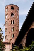 Ancient tower of Basilica in Ravenna, Italy — Stock Photo