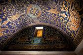 Dark blue Mosaic of the Galla Placidia mausoleum in Ravenn — Stock Photo