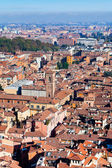 View on old town from Asinelli tower in Bologna — Stock Photo