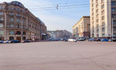 Tverskaya street from Manege square in Moscow — Stock Photo