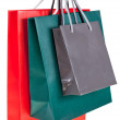 Stock Photo: Three paper shopping bags