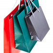 Three paper shopping bags — Stock Photo