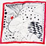 Abstract pattern on silk batik — Stock Photo