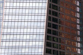 Glass walls of contemporary office building — Stock Photo