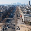 Above view of Avenue de la Grande Armee in Paris — Stock Photo