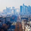 Above view of la Defense in Paris — Stock Photo