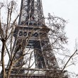 Paris Eiffel tower in march day — Stock Photo