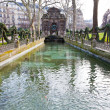 Medici Fountain in luxembourg garden in Paris - Stock Photo