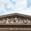 Stock Photo: Fronton of pantheon, Paris