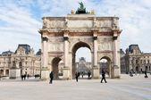 The Arc de Triomphe du Carrousel in Paris — Stock Photo
