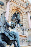 Fountain Saint Michel in Paris — Stock Photo