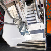 Steps in double-decker train — Stock Photo