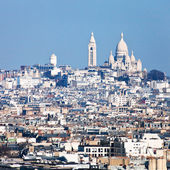 Paris skyline with montmartre hill — Stock Photo
