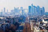 Above view of la Defense in Paris — Stock Photo