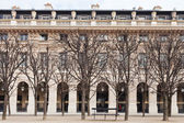 Palais Royal garden in Paris — Stock Photo