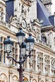 Hotel de Ville (City Hall) in Paris — Stockfoto