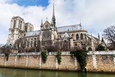 Cathedral Notre Dame de Paris — Stock Photo