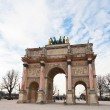 The Arc de Triomphe du Carrousel in Paris - Stock Photo