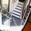 Steps in double-decker train — Stockfoto