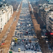Avenues des Champs Elysees in Paris - Stock Photo