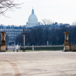 View of Pantheon from luxembourg gardens — Stock Photo