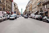 View of Vendome column from Rue de la Paix, Paris — Stock Photo