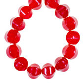 String of red jade necklaces — Stock Photo
